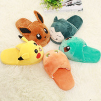Wholesale Cute Plush Patterns - 5pcs lot Autumn Winter Cute Cartoon Adult Warm Indoor Plush Slipper Animal Pattern Poke Slippers for Woman Men