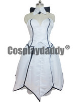 Wholesale Fate Stay Night Game - Fate Stay Night Saber Lily White Sexy Lolita Evening Dress Cosplay Costume
