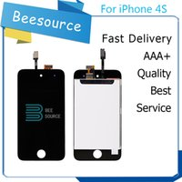 Wholesale Iphone 4s Lcd Assembly Oem - Factory Best AAA Quality For Iphone 4S OEM JDF touch 4 LCD Display With Touch Screen Digitizer Assembly Black And White Free DHL Shipping