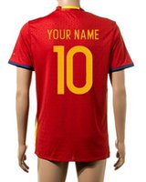 spain soccer team - 2016 Cup Soccer Jerseys Team National Jersey Spain Home Away Jersey Red White S XL Mix Order Customs Jersey Thai Version High Quality