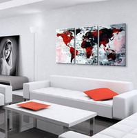 Wholesale Oil Paintings Maps - World Map Oil Painting 100% Hand Painted Modern Wall Art Painting ,Abstract oil painting