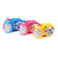 Wholesale projection lights for kids - Projection Camera Toy Variety Animal Pattern Baby Cognition LED Light Projection Educational Study Toy for Kids (Random Color)