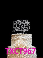 Wholesale personalized birthday cakes - Glitter Gold Silver Party Decoration Cake Toppers Alphabet Acrylic Cake Topper For Mother's Day Personalized Birthday Party Cake