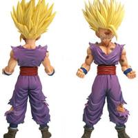 ana top toptan satış-20 Cm Anime Dragon Ball Z Süper Saiyan Oğlu Gohan Aksiyon Figürleri Master Yıldız Adet Dragonball Heykelcik Koleksiyon Model Oyuncak