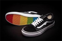 Wholesale Girls Wedding Slip - Lows Van rainbow casual shoes for men slip on black Canvas shoes for boys girls for work wedding Sneakers 3 colors