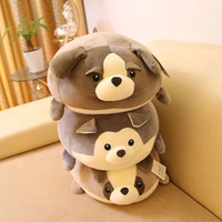 Wholesale Selling Doll - 161116 New Arrival Hot Selling Soft plush toy Dumpling pillow dog plush toy doll doll dog husky KIRs birthday gift Free Shipping
