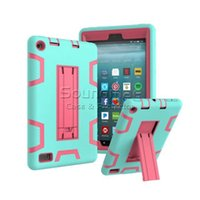 Wholesale ipad rugged heavy duty case online - 3 IN Silicone Kickstand Armor Shockproof Heavy Duty Rugged Drop Resistance Cover Case For Miini New iPad air OPP