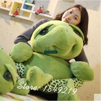 Wholesale Stuffed Green Turtle - Dorimytrader 150cm Giant Plush Soft Animal Tortoise Toy 59'' Big Stuffed Cartoon Turtle Doll Great Present Free Shipping DY61194