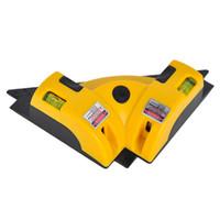 ferramentas a laser venda por atacado-90 graus de chão máquina de marcação a laser retangular instrumento de nível de horizonte nível de horizonte ferramenta para a construção de piso retrato nível de pendurar
