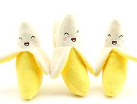 Wholesale Large Stuffed Toy Dogs - Wholesale Pet Dog Banana Toys Dog Cat chew Squeak Stuffed Toy For Small Medium Large Pets Mix Color 100pcs  lot