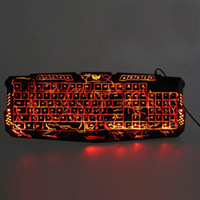 Wholesale Multimedia Led Keyboard - Original M200 LED Keyboard Crack Illuminated USB Multimedia PC Gaming Gamer Game keyboards Adjustable LED Backlight for lol