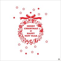 Wholesale Xmas Window Stickers - Window Stickers for Merry Christmas Decoration Wall Stickers Xmas Home Decoration Window Display Removable Wallpaper Product Code:90-2028
