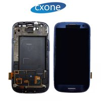 Grande qualità originale per Samsung Galaxy S3 LCD i9300 i9305 i747 T999 i530 L710 Touch Screen Assembly Digitizer con cornice DHL libero