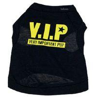 vip köpek giysileri toptan satış-Köpek giysileri pamuk pet köpek giyim VIP köpek Köpek için ÇOK ÖNEMLI PUP sevimli yelek