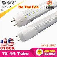 Grosses soldes! 300pcs 4ft T8 Tube LED haute Super Bright 18W 22W chaud blanc froid Led ampoules fluorescentes AC110-240V Led Tubes Eclairage