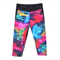 Mujeres Moda Impresión tinta Galaxy Legings Mix Diving Capris Pantalones Impreso Sky Space Stretchy Breathe Navidad caliente Jeggings Slim Tights