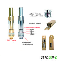 Wholesale Glasses Adjust - Top adjust airflow 510 e cigarette cartridges Pyrex glass tank CO2 Oil Cartridge CE3 atomizer O pen Ceramic coil green vape cartridges