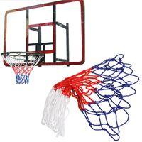 Wholesale wholesale threaded balls - Standard Nylon Thread Sports Basketball Hoop Mesh Net Backboard Rim Ball Pum 12 Loops White Red Blue 3 Colors Net ARE4