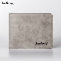 Baellerry Men Carteiras Short Studad Purse Vintage Microfiber Suede Bi-fold Card Holders Moda Casual Style Gifts for Boys