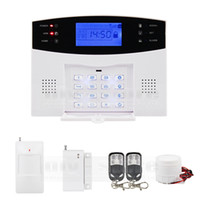 Wholesale Garden Alarm - 433MHz Wireless Wired GSM SMS TEXT Dial Security Alarm System Auto-Dial Defense Zone For Garage Storage Home Garden