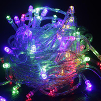 Wholesale 10M Waterproof LED String V V Copper Wire String Colorful Holiday light Fairy Lights for Christmas Wedding Festival Party