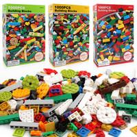 oyuncak yapı tuğlaları markaları toptan satış-1000 Adet Yapı Tuğlaları Set DIY Yaratıcı Tuğla Çocuk Oyuncak Eğitim Yapı Taşları Toplu Marka Blokları Ile Uyumlu