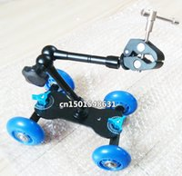 Синий DSLR Skater Wheel Camera Грузовик Top Dolly Kit + 11-дюймовый шарнир Magic Arm + Super Clamp