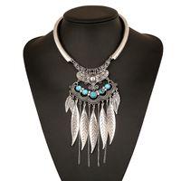 Wholesale Ethnic Long Necklaces - Maxi Bohemia Tassel Power Necklaces & Pendants Boho Vintage Fashion Big Ethnic Collier Jewelry Bijoux Long For Multi Women 2017 Chain Collar