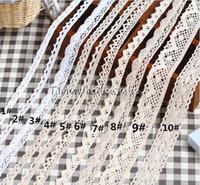 Wholesale Eyelet Lace - fashion styles 100% cotton crochet cotton lace trim cotton eyelet lace ribbon trim 30yards lot free shipping