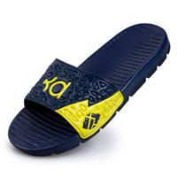 Wholesale men sandals online - 2016 New mens sport sandals men KD Kevin Durant sandals man Sandalias de hombre Beach casual Swim wear shoe