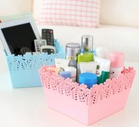 organize plastic containers - Hollow Carved Desktop Basket Multi Functional Organizing Baskets Containers Storage Trays