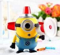 Wholesale Minions Kevin - Hot sale anime figure pvc toys Q ver POP Despicable Me Minions Kevin Minions Fire man Minions boxed 12CM gift for children