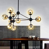 Wholesale Vintage Glass Head - Modo Magic Bean Chandeliers LED Pendant Lights 5 10 15 21 heads AC110-240V LED glass ball Christmas decoration lights Free shipping