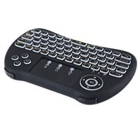 H9 Retroilluminazione i8 + Mini Wireless Keyboard 2.4 GHz Air Mouse Gaming Touchpad portatile per S905X X96 T95X Android TV BOX Laptop Vendita calda