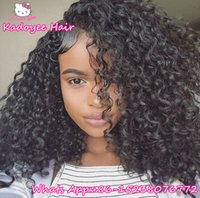 Wholesale Bouncy Wave Hair - 8pcs per pack Brazilian human hair extension weave bundles kinky curly water wave bouncy deep curly hair weaving for black women USA UK