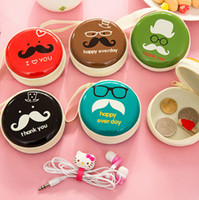 Wholesale Cute Printed Storage Carrying Bag Mini Zipper Storage Case for Headphone Earbud Cable Key Coin Mix Color