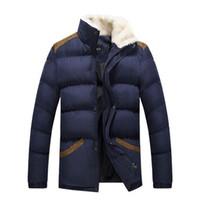 Wholesale Korean Fashion Wear Men - Fall-2015 New Arrival Fashion Men Cotton Coat Jacket Keep Warm Thicker Casual Wear Stand Collar Korean Style Y00236