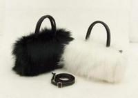 Wholesale Wholesale Luxury Faux Fur - Women's Handbag Faux Rabbit Fur Fashion Designer Women Messenger Bag Luxury Lady Shoulder Handbag Women's Crossbody Bag