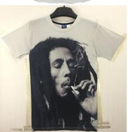 Wholesale Bob Marley T Shirts - Very Popular Style T-shirt Men Tees Print Bob Marley T-shirt 3d Brand Clothing Summer Tops Tees Hip Hop T Shirt Fashion
