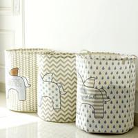 Wholesale Waterproof Storage Baskets - New waterproof dirty barrel folding toy creative clothes basket bra necktie socks storage box bag bins organizer laundry basket