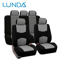 LUNDA Universal Fit Full Set Tela plana de tecido Tampa do assento do carro, (Preto) (Fit Most Car, Truck, Suv ou Van) cobertura do assento manga protetora