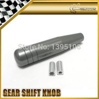 Wholesale Dildo Shift Knobs - nterior Accessories Gear Shift Knob Car Styling 15cm Gray Color Anodized Polished Glossy Aluminium Dildo Straight Line Stick Gear Shift K...