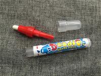 tapete de água mágico venda por atacado-Eco-Friendly Escrita Fontes do Aqua Doodle Aquadoodle Pen Drawing Water Magic Drawing Pen Mat Substituição 2 cores vermelho e azul