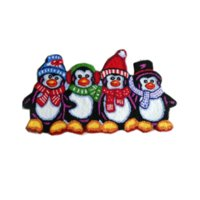 Wholesale hooked rugs - Cute Penguine Shaped Hooked Mat Living Door Mats, Anti-slip Embroidered Porch Doormat Floor Carpet Kitchen Rugs Christmas Gift