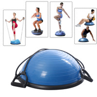 Wholesale New Yoga Ball Balance Trainer Yoga Fitness Strength Exercise Workout w Pump Blue
