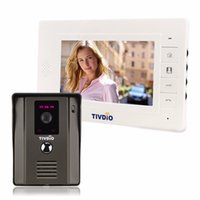 "Wholesale Visions Apartments - TIVDIO T-11D 7"" Color Video Door Phone Video Intercom Door Intercom IR Night Vision Camera Doorbell Kit for Home Apartment F9504"