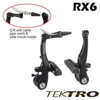 Wholesale Cable Brake Caliper - Taiwan TEKTRO RX6 Cyclocross V Brake Clamp Caliper Quick Release Mechanism Cable Guide Pipe Notch & Holder About 144g