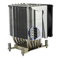 Wholesale T8 Round - LGA 2011 narrow round copper heat pipe T3-T8 6063 profile 3U 4U aluminum heat sink with cooling fan