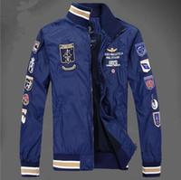 Wholesale High Brand Clothing Jacket - Aeronautica Jackets Men's polo Air Force One jackets Italy brand jackets,winter jacket coat men clothes High quality fashion Free shipping