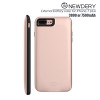 Wholesale Cheap Iphone Case Packages - 2016 newest battery cover case ABS+TPU wireless charger case for iPhone 7plus cheap aluminum cases with retail package